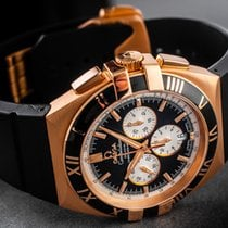 Omega Rose gold Automatic Black Arabic numerals 41mm pre-owned Constellation Double Eagle