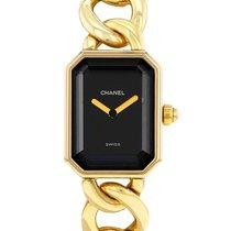 Chanel Or jaune Quartz Noir 20mm occasion Première