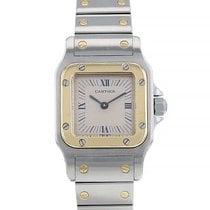Cartier Santos (submodel) Gold/Stahl 23.6mm Grau Römisch