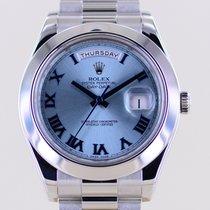 Rolex Day-Date II Platinum 41mm Blue No numerals