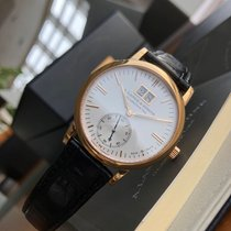 A. Lange & Söhne Rose gold Automatic Silver No numerals 37mm pre-owned Langematik