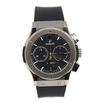 Hublot Classic Fusion Chronograph pre-owned 45mm Black Chronograph Date Rubber