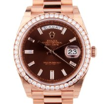 Rolex Day-Date 40 Rose gold Brown