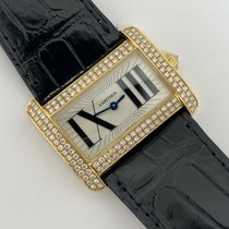 Cartier Tank Divan Yellow gold 32mm Silver Roman numerals United States of America, Texas, Houston