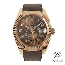 Rolex Sky-Dweller Rose gold 42mm Brown Arabic numerals
