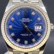 Rolex Datejust Acier 41mm Bleu Sans chiffres Belgique, Antwerpen