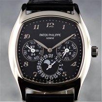 Patek Philippe Perpetual Calendar Or blanc 37mm Noir Arabes