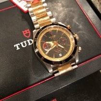 Tudor Grantour Chrono Fly-Back Gold/Steel 42mm Black No numerals