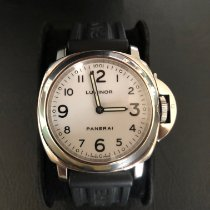 Panerai Luminor Base Stål 44mm Vit Arabiska