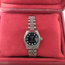 Rolex Acero Automático Negro usados Lady-Datejust