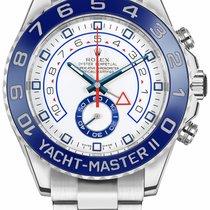 Rolex Yacht-Master II Ατσάλι 44mm Άσπρο Xωρίς ψηφία
