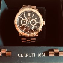 Cerruti Steel 46mm Quartz pre-owned