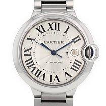 Cartier Ballon Bleu 42mm Сталь 42mm Белый Римские