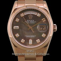 Rolex Or rose Remontage automatique Nacre 36mm occasion Day-Date 36