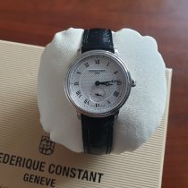 Frederique Constant Slimline Mid Size pre-owned 28mm Silver Leather