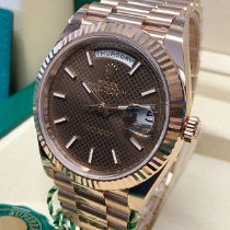 Rolex Day-Date 40 Rose gold 40mm Brown Roman numerals United Kingdom, Wilmslow