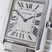 Cartier Tank Solo Acero 27mm Blanco Romanos Argentina, buenos aires