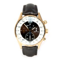 TAG Heuer Carrera Mikrograph Rose gold 43mm Brown Arabic numerals