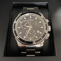 Hamilton Jazzmaster Seaview pre-owned 44mm Black Chronograph Date Steel