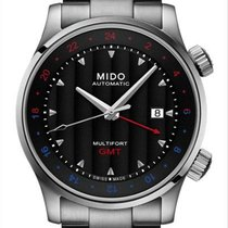 Mido Multifort GMT Stal 42mm Czarny