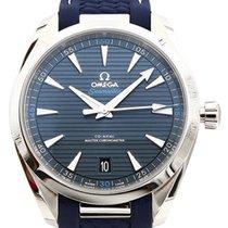 Omega Acier Remontage automatique Bleu 41mm nouveau Seamaster Aqua Terra