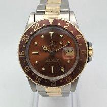 Rolex GMT-Master Gold/Stahl 40mm Braun Keine Ziffern