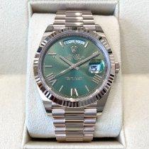 Rolex Day-Date 40 Roségold 40mm Grün Römisch