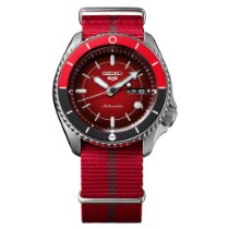 Seiko 5 Sports Staal 42.5mm Rood Geen cijfers Nederland, ERMELO