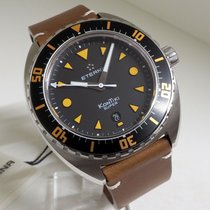 Eterna Super Kontiki Steel 45mm Black