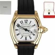 Cartier Roadster Yellow gold 36mm Silver Arabic numerals United States of America, New York, Smithtown