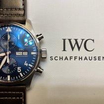 IWC Pilot Chronograph Stal 43mm Niebieski Arabskie Polska, Warszawa
