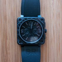 Bell & Ross BR 01-94 Chronographe Staal 46mm Zwart Arabisch