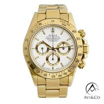 Rolex Daytona pre-owned 40mm White Chronograph Tachymeter Yellow gold