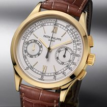 Patek Philippe Chronograph Yellow gold 39mm Silver Roman numerals