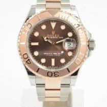 Rolex Yacht-Master Gold/Steel 40mm Brown No numerals