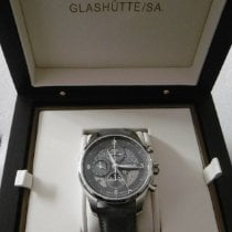 Union Glashütte Belisar Chronograph Steel 44mm Grey Arabic numerals