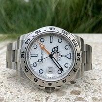 Rolex Explorer II Stal 42mm Biały Bez cyfr