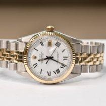 Rolex Datejust Ouro/Aço 36mm Ouro Sem números