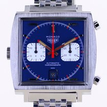 TAG Heuer Steel 42mm Blue No numerals