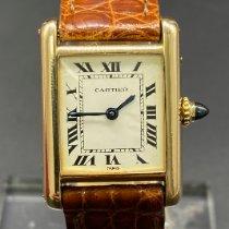 Cartier Tank Française Or jaune 20mm Blanc France, Paris