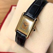 Cartier Silber Handaufzug Gold Keine Ziffern 20mm gebraucht Tank Vermeil