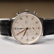 IWC Portuguese Chronograph Acier 41mm Blanc Arabes