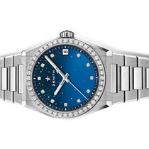 Zenith Steel Automatic Blue No numerals 36mm new Defy
