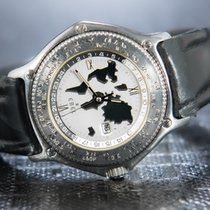 Ebel pre-owned Automatic 38mm Silver Sapphire crystal