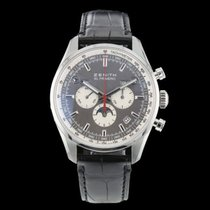 Zenith Steel Automatic Grey 42mm pre-owned El Primero 410