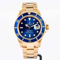 Rolex Submariner Date Yellow gold 40mm Blue No numerals