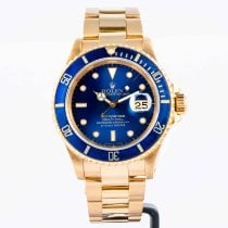 Rolex Submariner Date 16618 Very good Yellow gold 40mm Automatic