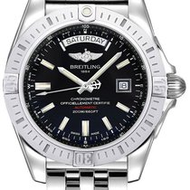 Breitling Galactic 44 Steel 44mm Black No numerals United States of America, New York, New York