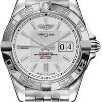 Breitling Galactic 41 Steel 41mm Silver No numerals United States of America, New York, New York
