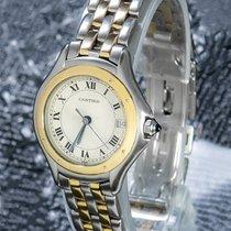 Cartier Cougar Золото/Cталь 33mm Белый Римские